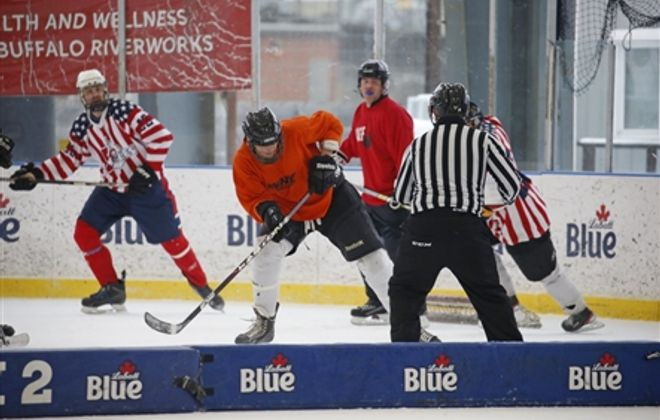 Final day of the Labatt Blue Pond Hockey Tournament