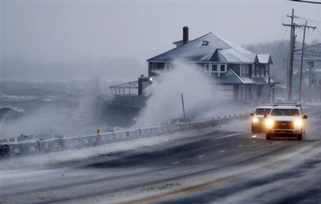 Snow, winds whip through Western New York