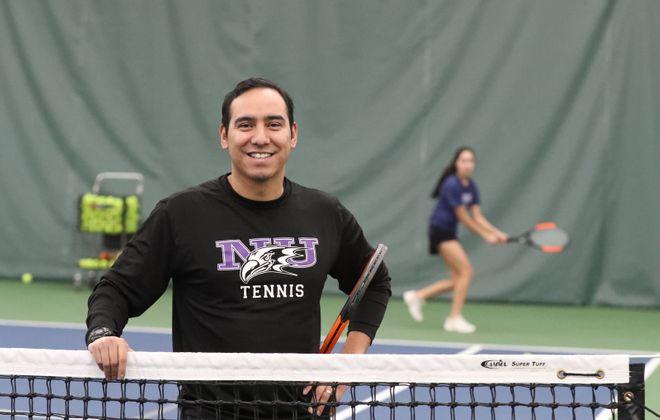 Erick Garcia is the tennis coach at Niagara University, and teaches at Village Glen and the Niagara Academy of Tennis. (James P. McCoy/Buffalo News)