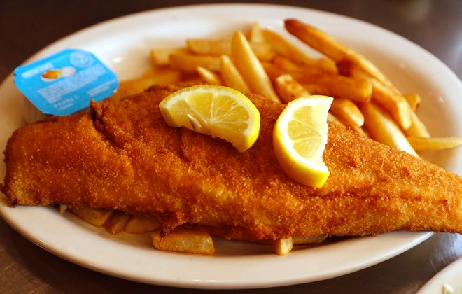 The Olympic restaurant in Tonawanda has a large menu of everything from Greek specialties to the popular haddock fish fry. (Sharon Cantillon/Buffalo News)