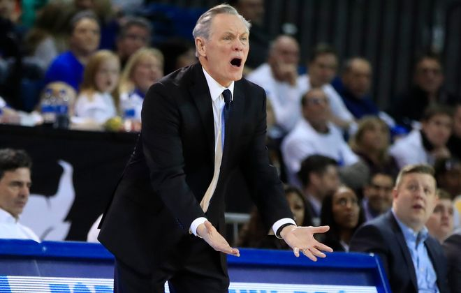 University at Buffalo coach Jim Whitesell during the Feb. 29, 2020, game. (Harry Scull Jr./News file photo)