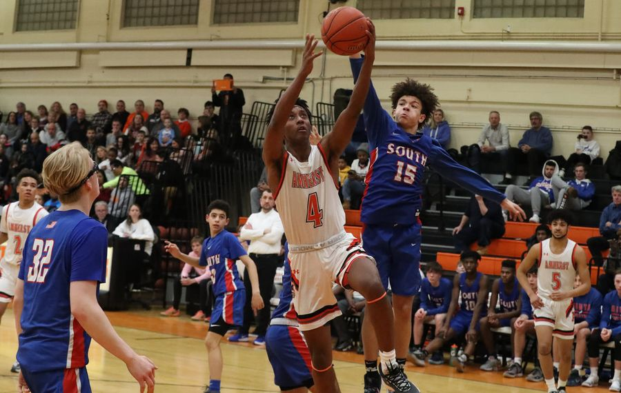Jaylen Stewart shines for Amherst in win marred by melee