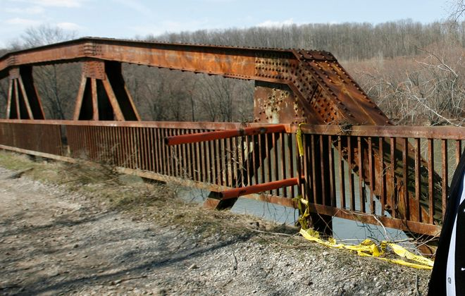 A Seneca woman, Patricia John, died in 2012 after falling through a hole in the deck of this bridge near Salamanca, N.Y. (News file photo)