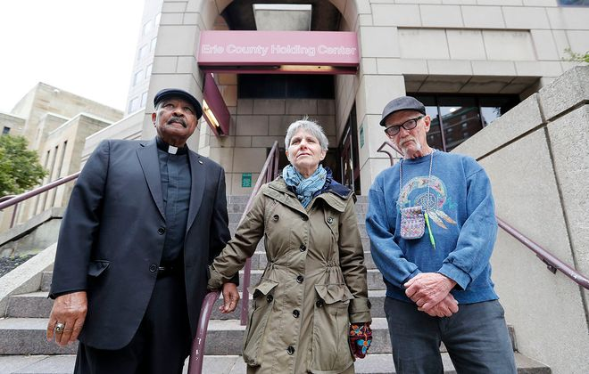 The appellate division of the State Supreme Court ruled against four citizens who sued to force Erie County Sheriff Timothy B. Howard to report serious jail incidents accurately or face a contempt citation. Pictured here are three of the citizens who sued, the Rev. Eugene Pierce, Nan Haynes and Chuck Culhane. (Mark Mulville/Buffalo News)