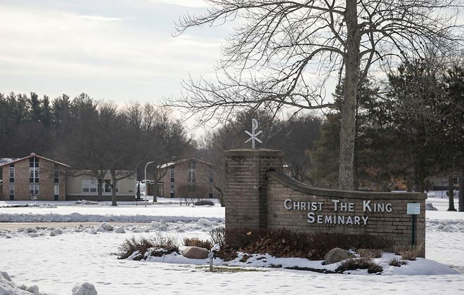 Christ the King Seminary in East Aurora, which trains men to become Catholic priests, will be closing in May 2020. There are 26 students enrolled there studying to become priests. (Derek Gee/Buffalo News)