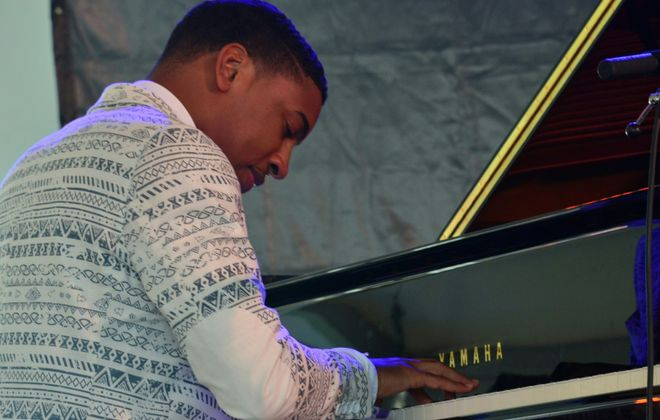 Pianist Christian Sands led a tribute to Erroll Garner during the first Art of Jazz concert in the Mary Seaton Room of Kleinhans Music Hall. (Getty Images)
