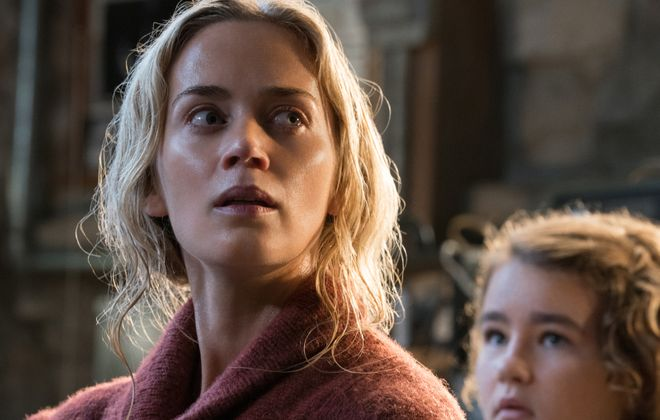 """Emily Blunt, left, and Millicent Simmonds, in a scene from the original film, return in the Buffalo-made sequel, """"A Quiet Place Part II."""" (Paramount Pictures)"""