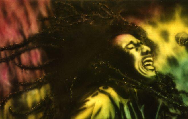"""Bob Marley Live,"" painting by Steve Brogdon."
