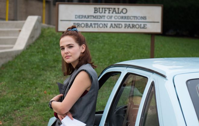 "Zoey Deutch pulls out all the stops in ""Buffaloed,"" a film written by Lockport native Brian Sacca. (Photo courtesy Magnolia Pictures)"