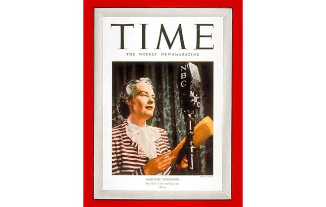 Dorothy Thompson on the cover of Time, June 12, 1939. (Peter A. Nyholm, Time)