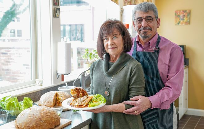"Allentown residents Gary and Merry Constantino with their Timpano, inspired by the film ""Big Night."" (Dave Jarosz)"