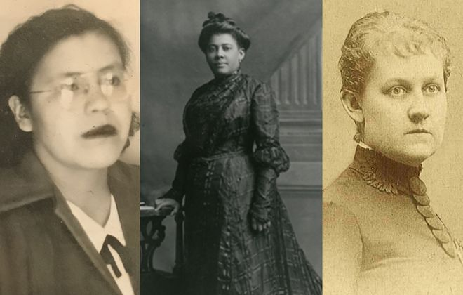 """The women gracing the statues coming to Western New York later this year:,Geraldine """"Gawö:Sid-tah"""" Green, Mary Talbert and Louise Blanchard Bethune. (Trailblazing Women of Western New York)"""