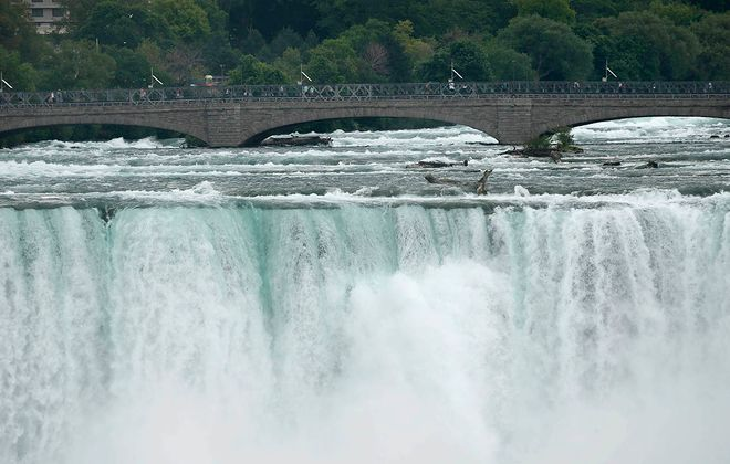 Two pedestrian bridges in Niagara Falls State Park are slated for repairs or to be replaced. (Derek Gee/News file photo)