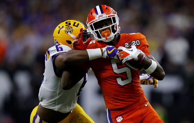 Clemson receiver Tee Higgins. (Getty Images)