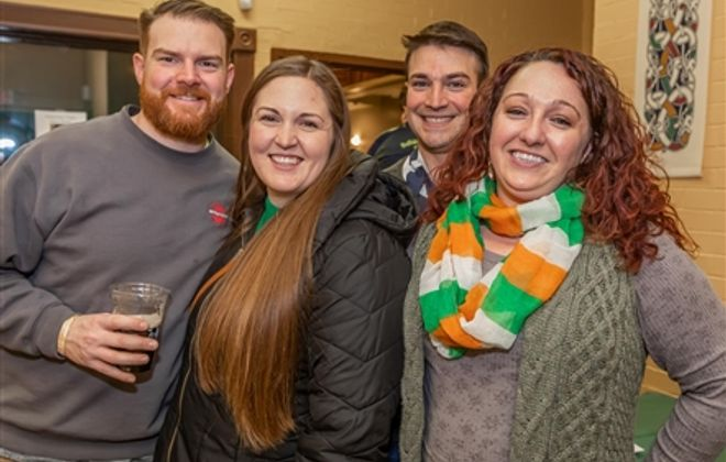 Smiles at Guinness Toast in Buffalo Irish Center