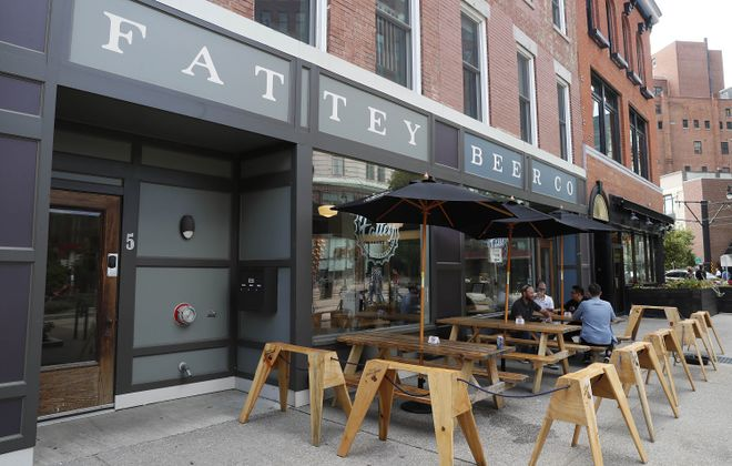 Fattey Beer Co. opened in downtown Buffalo, pictured, last year. Owner Nik Fattey and three partners have planned to expand in Orchard Park.(Sharon Cantillon/News file photo)