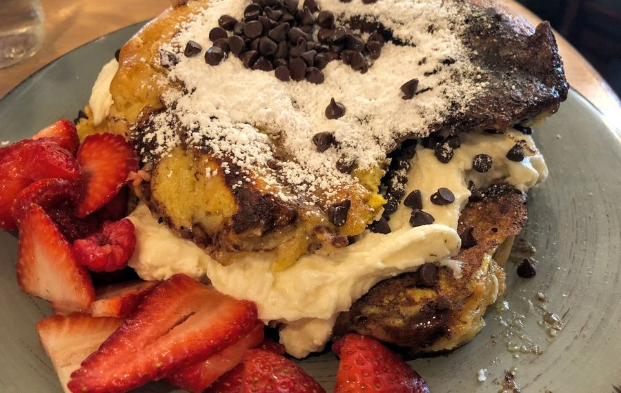 The cannoli stuffed French toast from Kaylena Marie's, along with the popular cinnamon roll, has helped the bakery grow to a place it can expand. (Photo courtesy of Melanie Eldred)
