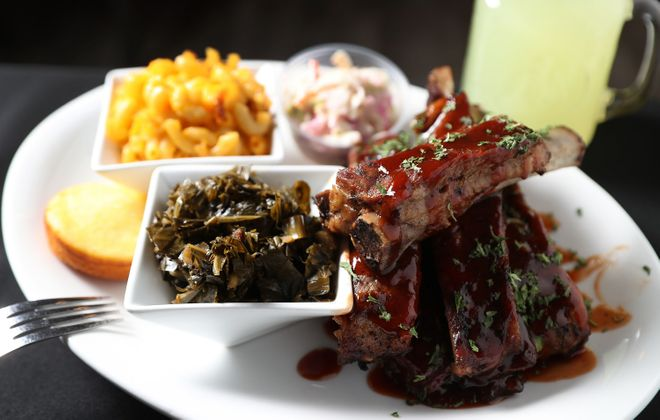 Je Ne Sais Quoi, on Hertel Avenue, is one participant in Black Restaurant Week, which runs Feb. 18-23. This is their spare rib dinner. (Sharon Cantillon/News file photo)