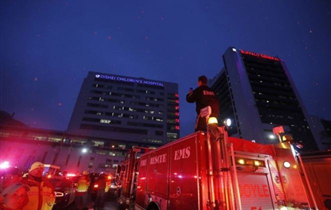 Lights of Love by first responders for Oishei Children's Hospital