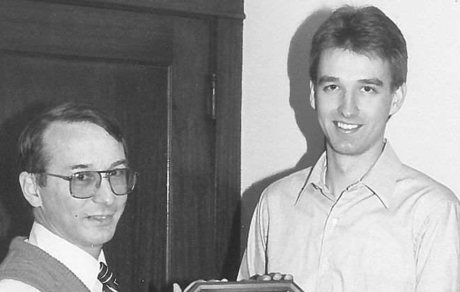 Marty Maryan, right, with David Dietz. (Photo courtesy of Canisius College)