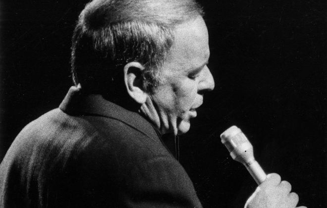Frank Sinatra performing at the Aud. (Mickey Osterreicher/Special to The News)