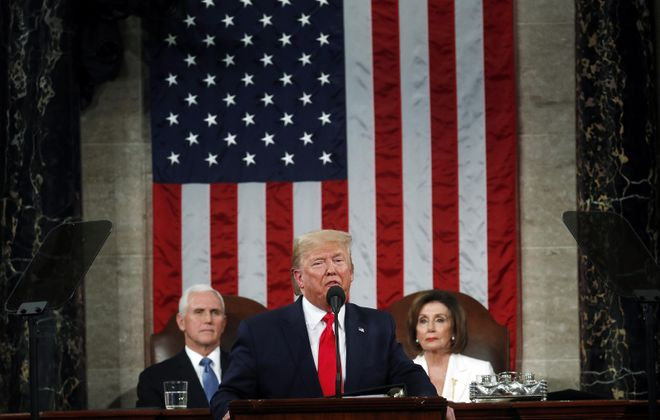 President Donald Trump delivers the State of the Union address. (Getty Images)