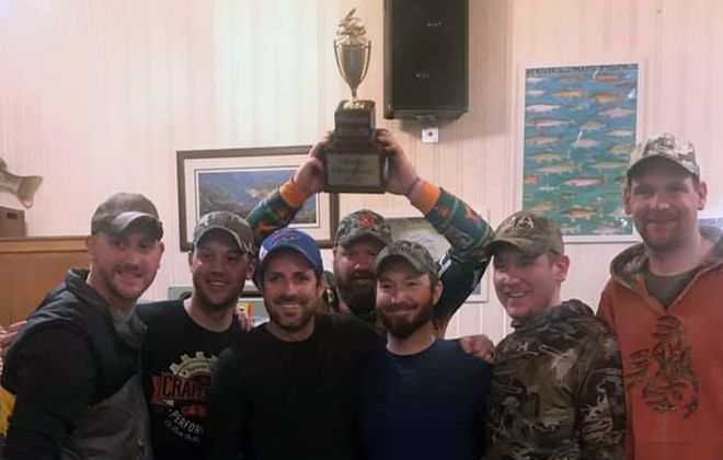 The Ramrods team from Grand Island won the 13th annual International Rabbit Derby as they hoist up the Frank Privitere Golden Rabbit Cup. (Photo courtesy of Rick Giermata)