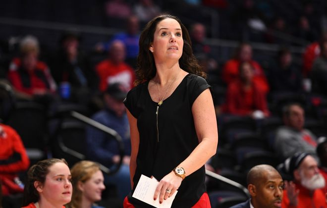 Shauna Green, a former Canisius women's basketball standout, is in her fourth season as head women's basketball coach at Dayton. (Erik Schelkun/Special to The News)
