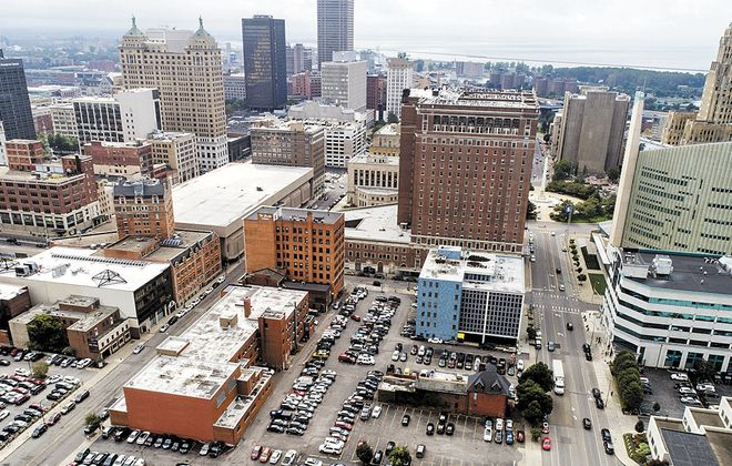 Erie County has identified a lot on Delaware Avenue just north of Statler City as a location for a proposed new convention center. (Derek Gee/News file photo)