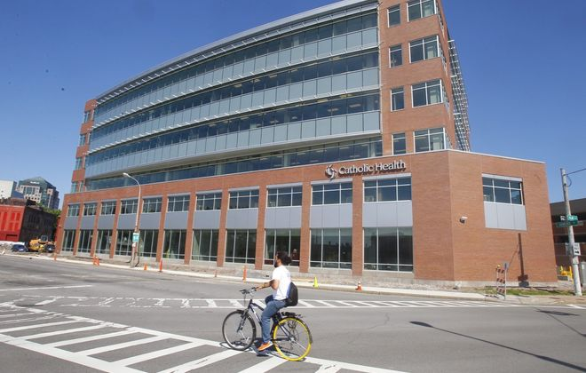 Catholic Health's headquarters and training center in downtown Buffalo. (News file photo)