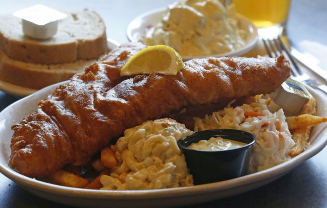 The fish fry at Depew's French Pub is a favorite of David Lyman, who runs the Facebook page Dave's WNY Fish Fry Reviews. (Robert Kirkham/Buffalo News)