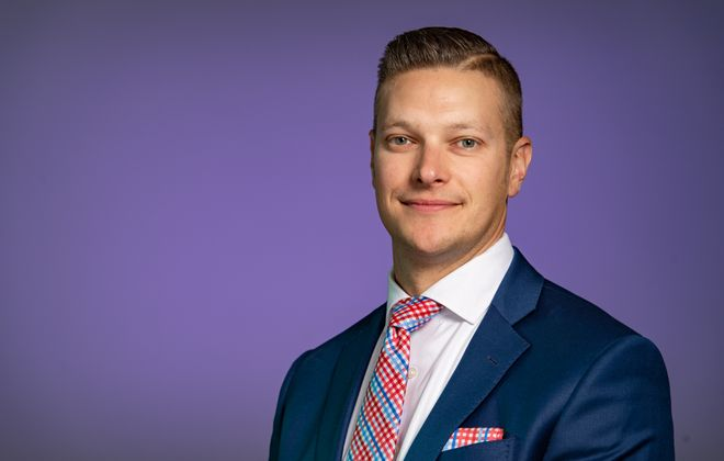 Matthew Whitehead, senior vice president and general manager for Buffalo at Howard Hanna Real Estate Services, as of February 2020. (Photo courtesy of Howard Hanna Real Estate Services)