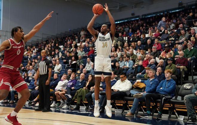 Maceo Jack is a Williamsville North graduate and a junior on the George Washington men's basketball team. (Photo courtesy of George Washington Athletics)