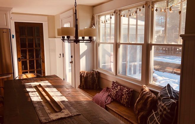 Do you have a favorite spot in your home during the winter months? This window seat is where interior designer Susan Reedy Jackson reads, drinks tea, does the crossword puzzle and enjoys the warmth and light on sunny days. (Photo courtesy  Paul Jackson)