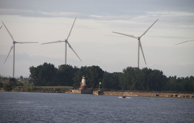 Turbines off Lake Erie. (Bill Hilts, Jr./Special to The News)