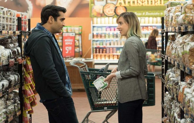 """Kumail Nanjiani and Zoe Kazan, here in the film """"The Big Sick,"""" both made an impression at the Television Critics Association tour. (News file photo)"""