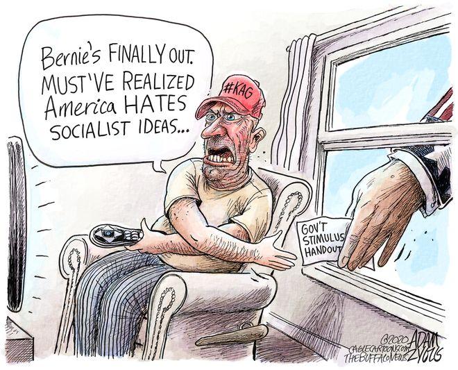 Bernie's out: April 9, 2020