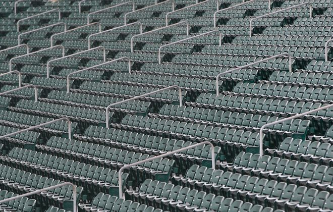 Sahlen Field sat empty on April 17, when the season opener was originally scheduled. It might stay that way all summer (Harry Scull Jr./Buffalo News).
