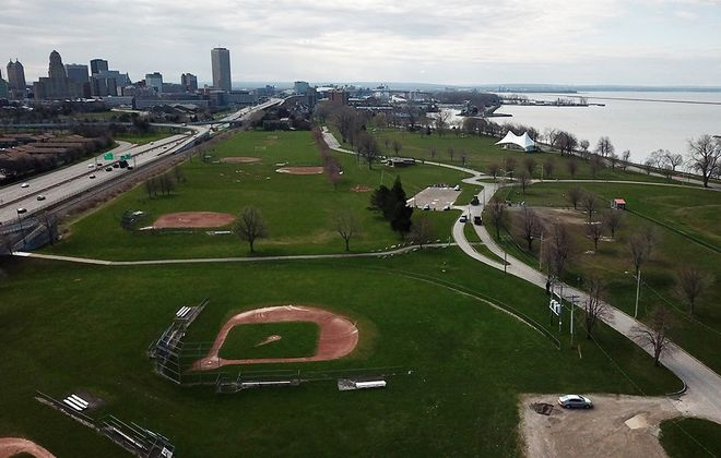 Ralph Wilson Jr. Centennial Park on April 27, 2020. (John Hickey/News file photo)