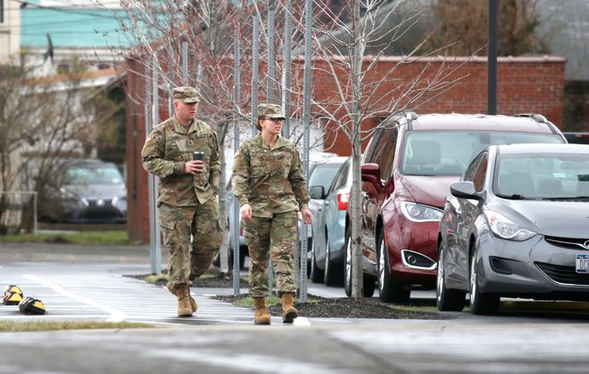 If not for a contract to house National Guard troops, the DoubleTree Hotel in Niagara Falls would have only 1% to 2% occupancy. (Robert Kirkham/Buffalo News)