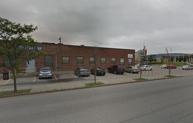 The Seneca Nation of Indians tore down this nondescript brick warehouse building across from the Seneca Buffalo Creek Casino. (Google)