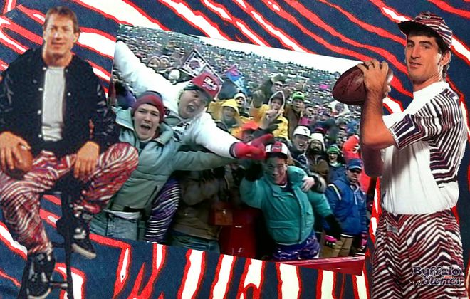 From Jim Kelly to Frank Reich to the 12th man in the stands, Zubaz was everywhere  at Rich Stadium in the early 1990s.