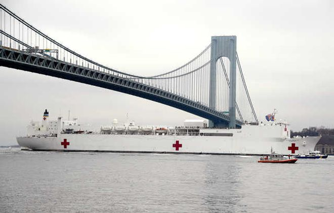 The U.S. Navy hospital ship Comfort was underused after its arrival in New York City  as the novel coronavirus overwhelmed the city's hospitals. President Trump this week agreed to Gov. Andrew M. Cuomo's request to use the ship for Covid-19 patients. (Getty Images)