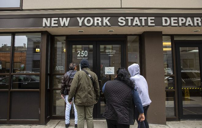 State figures confirm the bleak job picture caused by Covid-19. (New York Times)