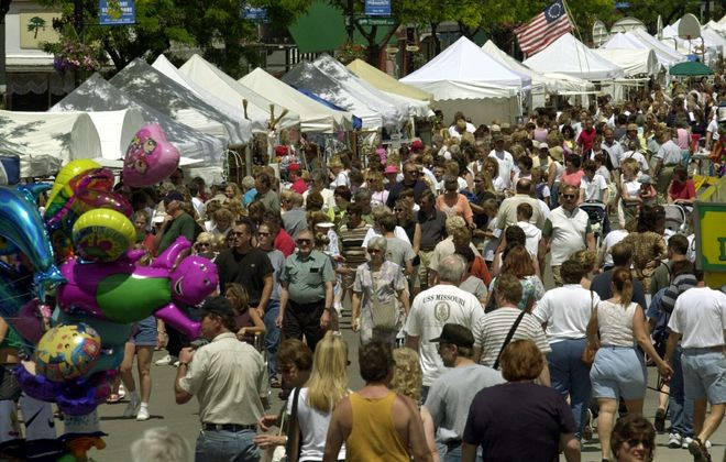 Crowds checked out the craft show at Canal Fest a few years ago. (Robert Kirkham/News file photo)