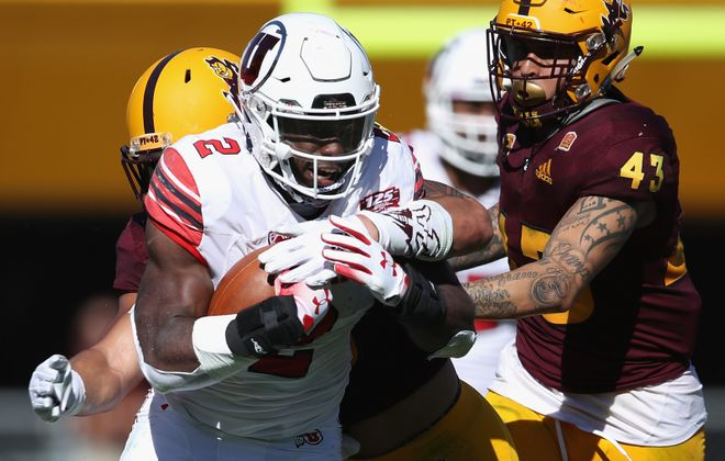 Running back Zack Moss of Utah was selected by the Bills in Round 3 (Christian Petersen/Getty Images)
