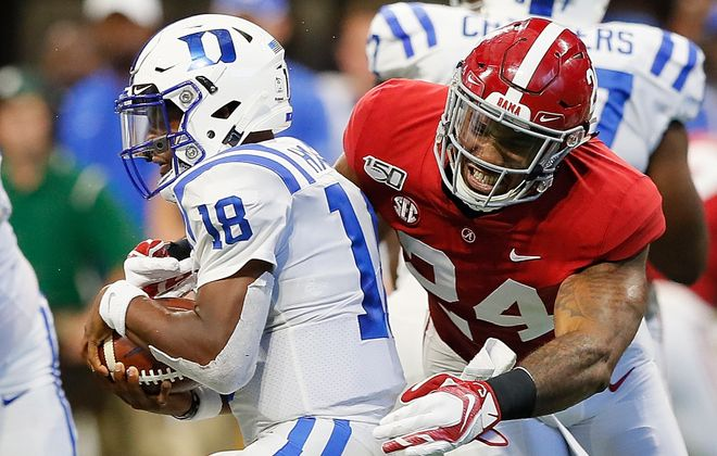 Terrell Lewis could be a big help as an edge rusher for the Bills. (Getty Images)