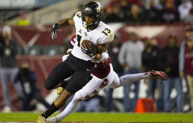 Central Florida wide receiver Gabriel Davis is a near lock to make the Bills' 53-man roster as a fourth-round draft pick. (Mitchell Leff/Getty Images)