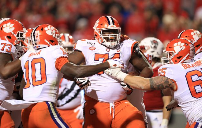 John Simpson of the Clemson Tigers  could be a Day 2 draft pick. (Streeter Lecka/Getty Images)