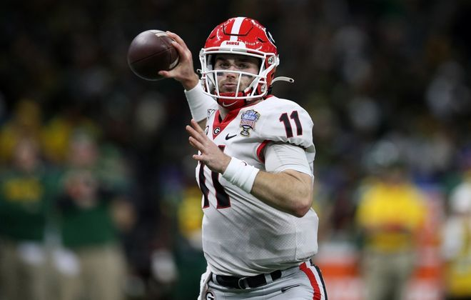 The Buffalo Bills selected Georgia quarterback Jake Fromm in the fifth round April 25. (Getty Images)